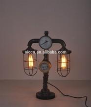 Vintage Table Lamp Decorative Antique Pipe Edison Bulb Table Lamp