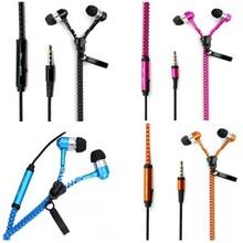 unique zip zipper design earphones headphone super bass earphones earbud jelly earbud remote + mic can oem
