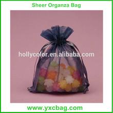 2015 China Factory Wholesale Candy Sheer Organza Bag with Printed Ribbon