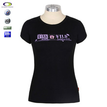 custom 95%cotton 5%spandex women t shirt