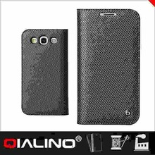 QIALINO Top Quality Custom Printing Logo Leather For Samsung For Galaxy S3 Diary Case