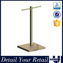 shop fitting T bar design display stand for t shirts
