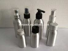 100ml pure aluminum skin care bottle with screw cap and pump