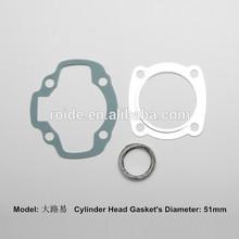Motorcycle engine cylinder gasket set