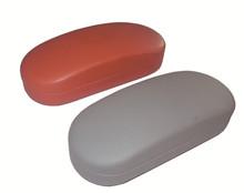 Cheap Plain Leather Metal Eyeglasses case