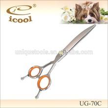 UG-70C curved pet grooming dog scissors