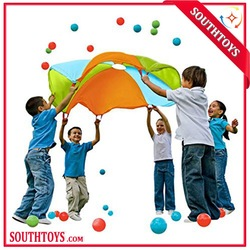 outdoor fun kids play huge promotional parachute toys with handle