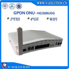 Gpon fiber optic 4ge voip wifi onu set top box with 2fxs