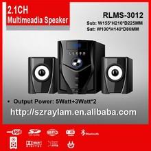 Home theater music system 2.1 multimedia speaker system