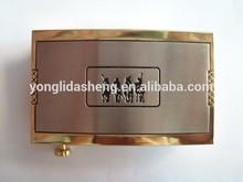 Metal manufacturer custom design logo belt buckles for men