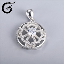 wholesale blank sterling pendant 925 silver jewelry with cz