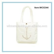 Plain design trendy cotton bag wholesale cheap shopping bag