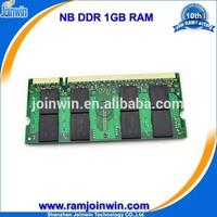 Low density laptop non ecc ddr ram memory 1g pc2700 333mhz