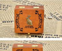 custom 12 zodiac wooden mini music box