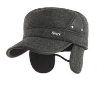 baseball cap for men leisure genuine leather hat top quality winter hat and for men winter hat with ear protection inside
