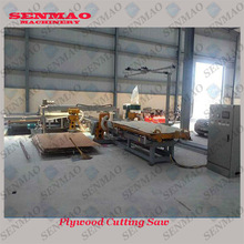 Full automatical infrared guidance plywood edge cutting machine/plywood edge trimming saw