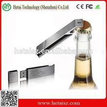 Retail Metal bottle opener USB Flash Drives thumb pen drives memory stick disk promotion 2GB 4GB 8GB 16GB 32GB
