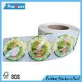 de hielo del congelador crema waterprood impreso adhesivo de etiquetas