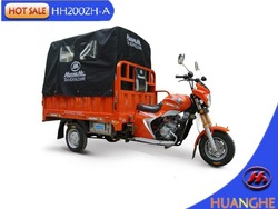 Heavy loading three wheel motorcycle with cargo cover
