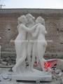 Blanche statue de marbre sculpture déesse 3 nu.