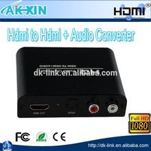HDMI to HDMI + SPDIF + RCA L / R Audio Extractor Converter 1080p/720p Full-HD