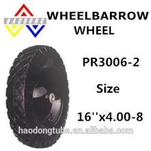 Steel rim wheelbarrow wheels PR3006-2