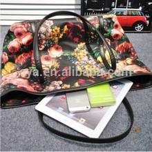 Fashion vintage flower printing european shoulder bag for women