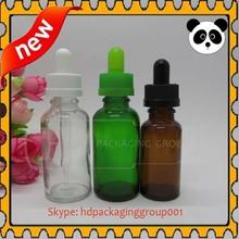 China supplier glass dropper bottles red 30ml 20ml unicorn glas dropper bottles decorative essential oil bottles 30ml