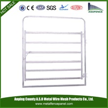 welded square tube frame and oval rail cattle panel gate in frame (Standard Australia Fence)