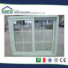 Made in China UPVC/PVC White two panel sliding uv spray window