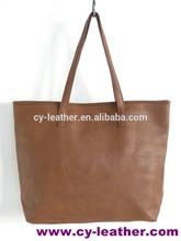 begie pu leather ladies big handbags