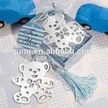 Lovable Teddy Bear Design Bookmarks baby shower favor