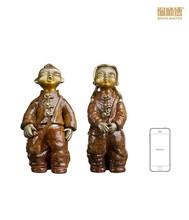 Export copper children playing bronze sculpture
