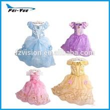 2015 caliente de la venta de lujo nueva cenicienta vestido vestidos para niñas