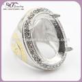 الجملة الفولاذ المقاوم للصدأ أزياء للحزام فضفاضة الاحجار الكريمة خاتم حجر كبير