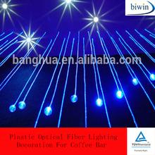 Plastic Optical Fiber Lighting Decoration For Coffee Bar