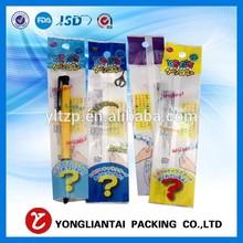 Self adhesive OPP header bags for pen