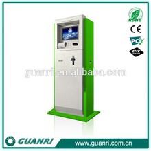 Competitive! Guanri K12 self service queue ticket machine, 17'' customized ticket kiosk,