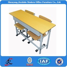 2015 cheap adjustable desk and chair double student desk prices for school furniture