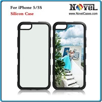 High Quality Rubber Sublimation Blank Cellphone Shell For iPhone 5G