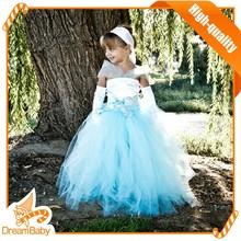 Encargo de la princesa cenicienta de cumpleaños de las muchachas del vestido del bebé de la muchacha de la princesa vestido de cenicienta vestidos para niñas