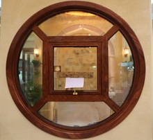 Pugee circle design round window