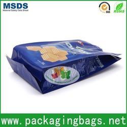 side gusset biscuit food aluminum foil bag with zipper/ziplock