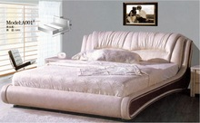 A001 2015 Best Selling MBR-1304 Top Quality Crocodile Leather Bed Home Furniture
