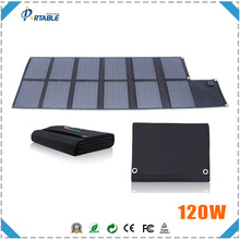 hottest 120W folding solar charger for battery on boat/yacht/car for travel/camping
