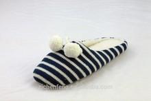 womens knit winter slipper warm indoor slipper with pom pom