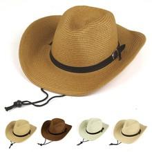 straw cowboy hat, simple style straw cowboy hat