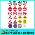 tráfego de símbolos de metal colorido segurança sinais de fabricação
