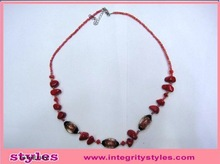 China Wholesale Merchandise Red Beaded Fashion Necklace Design