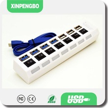 10 Ports White Color Car Charger USB HUB 3.0